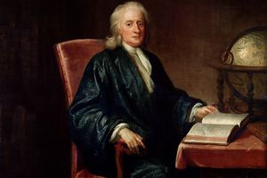 Sir Isaac Newton portrait.