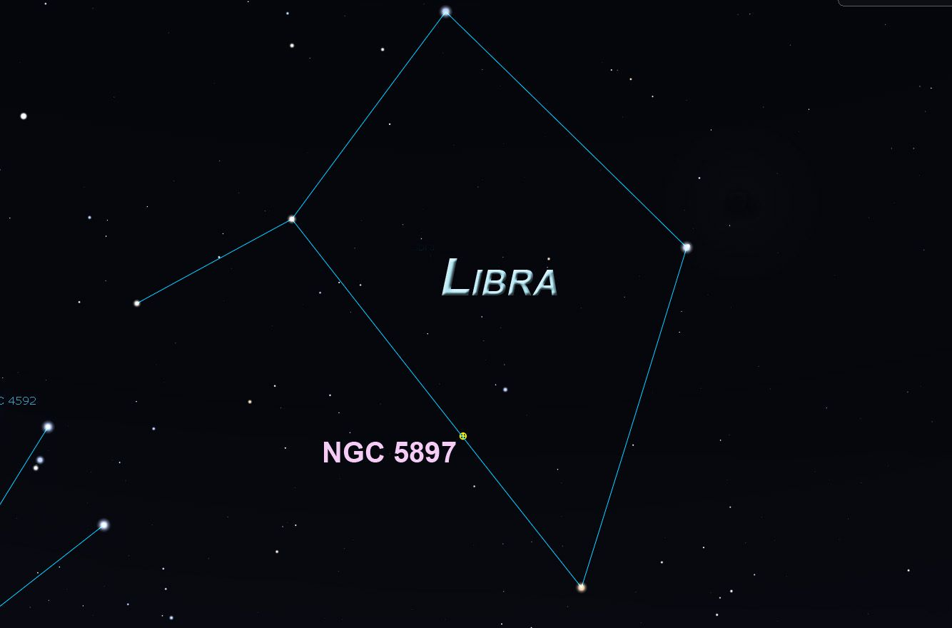 Libra constellation and NGC 5897