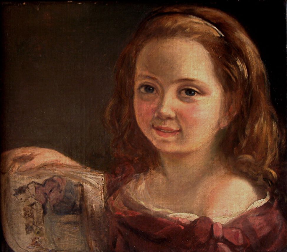 Ada Byron (Ada Lovelace), aged seven, by Alfred d'Orsay, 1822.