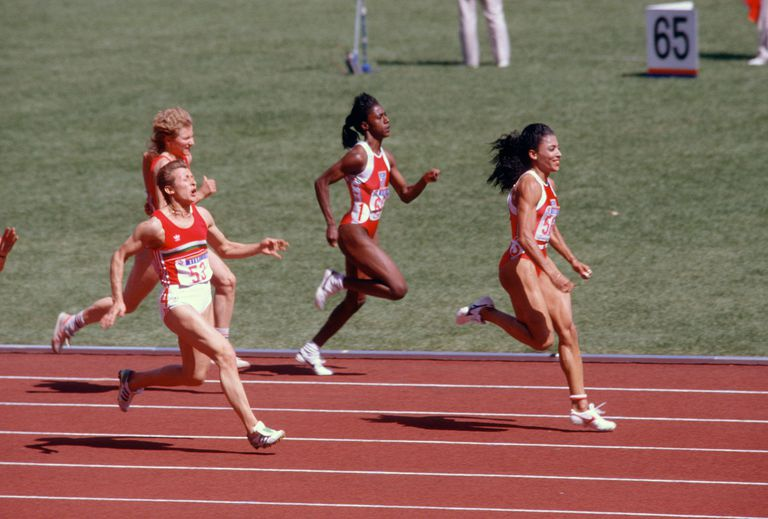 Florence Joyner Griffith at the 1988 Olympics in Seoul, South Korea