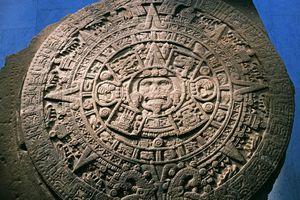 Sun Stone or Aztec Calendar Stone, found in Tenochtitlan in 1789, Mexico, Azteca Civilization, 15th century
