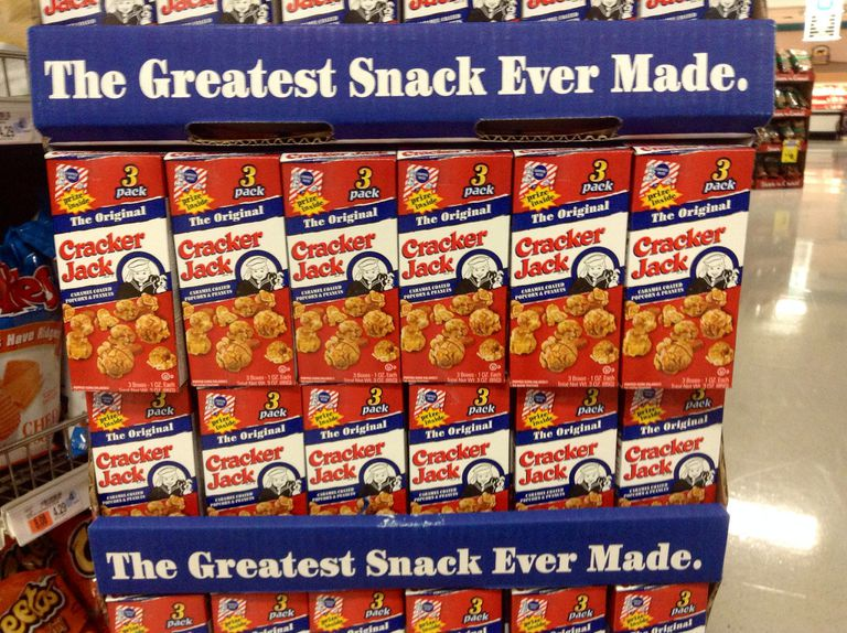 Cracker Jack display at the grocery store.