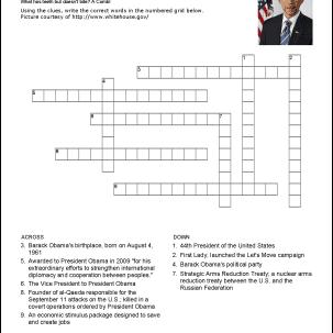 Barack Obama Crossword Puzzle