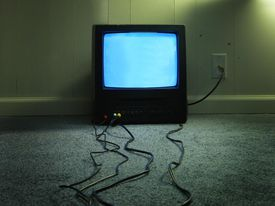 TV and cords