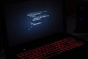 Desktop PC in Darkroom