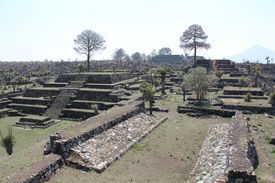 Ruins of Mesoamerican cultures on a sunny day.