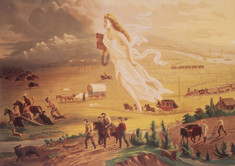 'American Progress', by John Gast (1872), depicting 'Manifest Destiny'