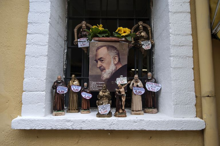 The Mortal Remains Of St. Pio Arriving At Pietrelcina
