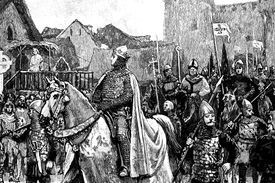 William the Conqueror enters London with his troops