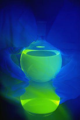 Glowing water.