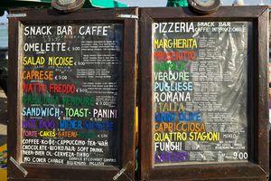 Italian Menu Boards