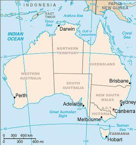 Map of Australian States