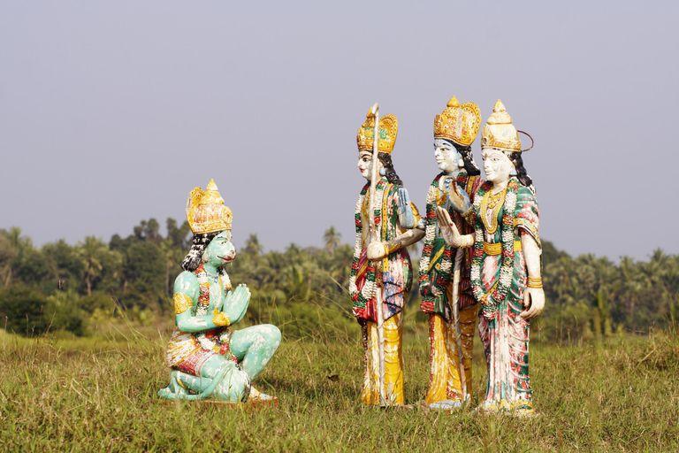 Statues of Hanuman, Ram, Laxman and Sita
