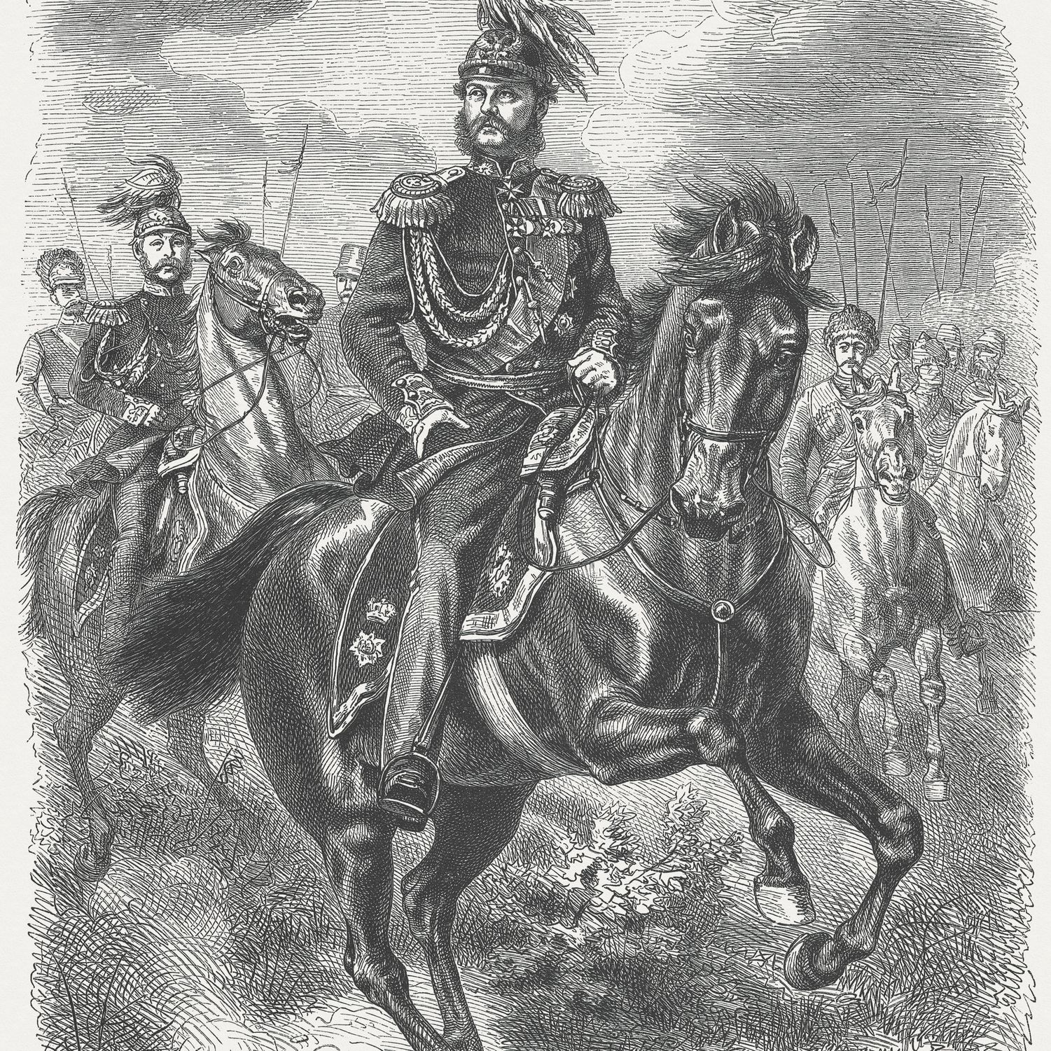 Alexander I of Russia (1777-1825), wood engraving, published in 1877