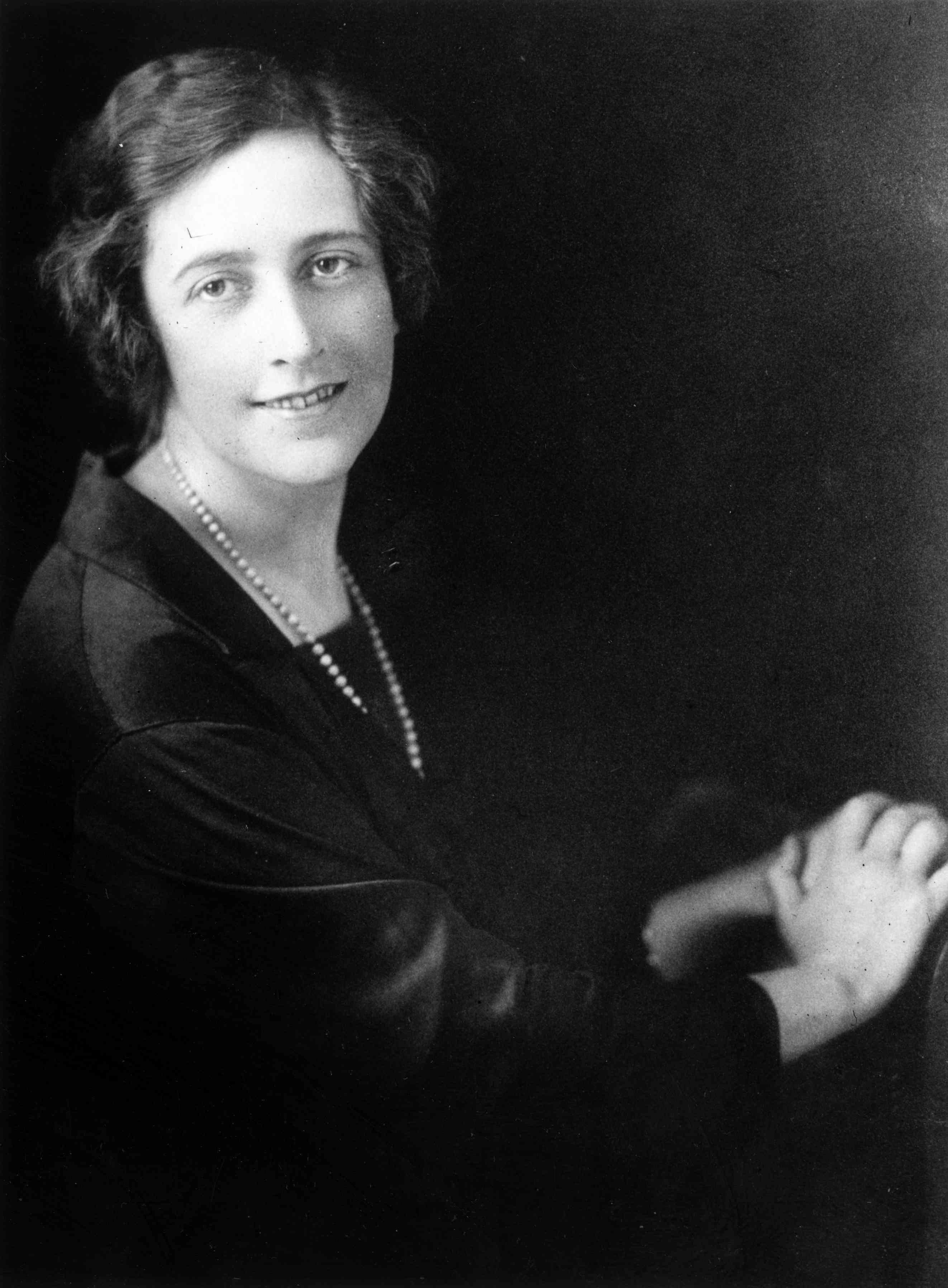 Portrait of young Agatha Christie