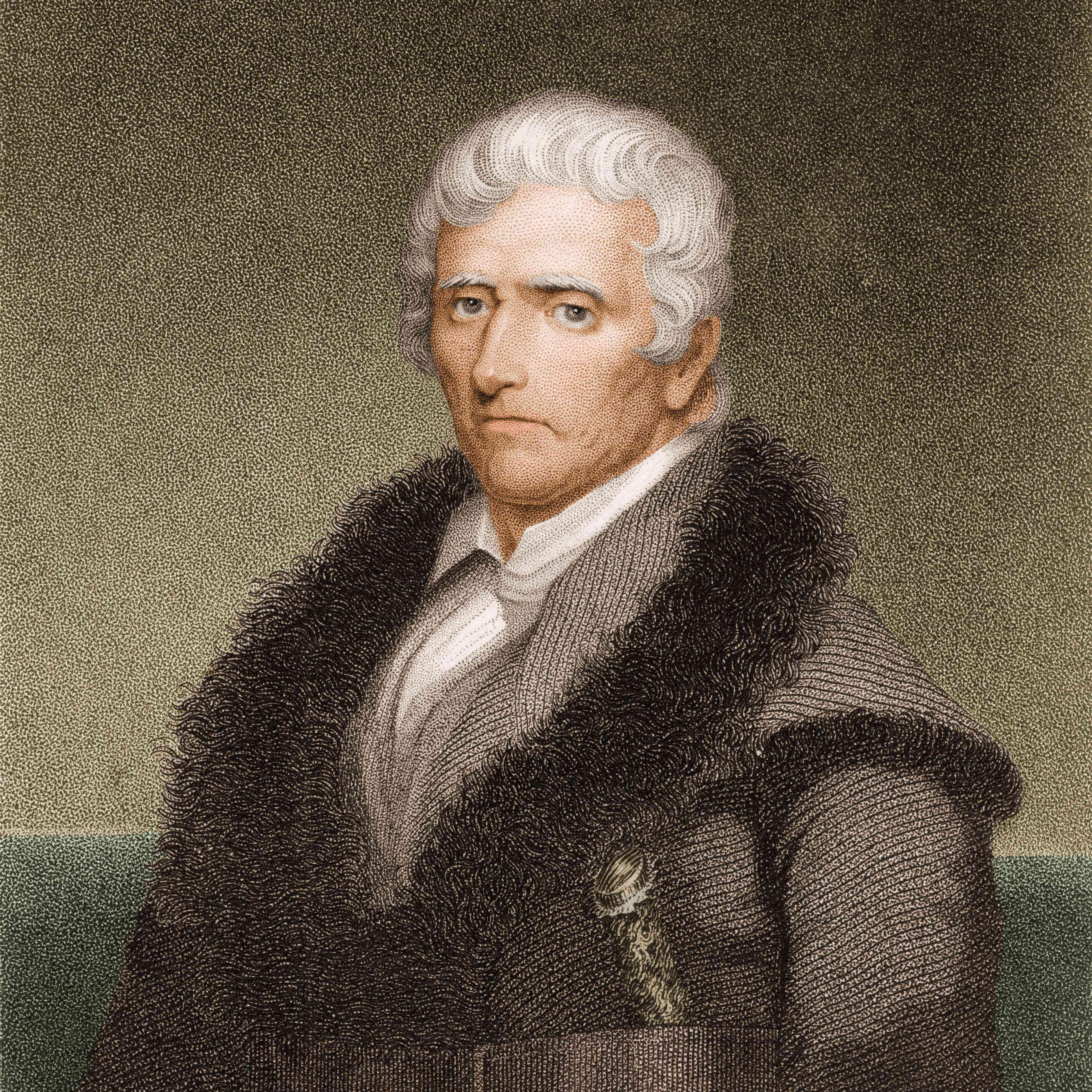 engraved portrait of Daniel Boone