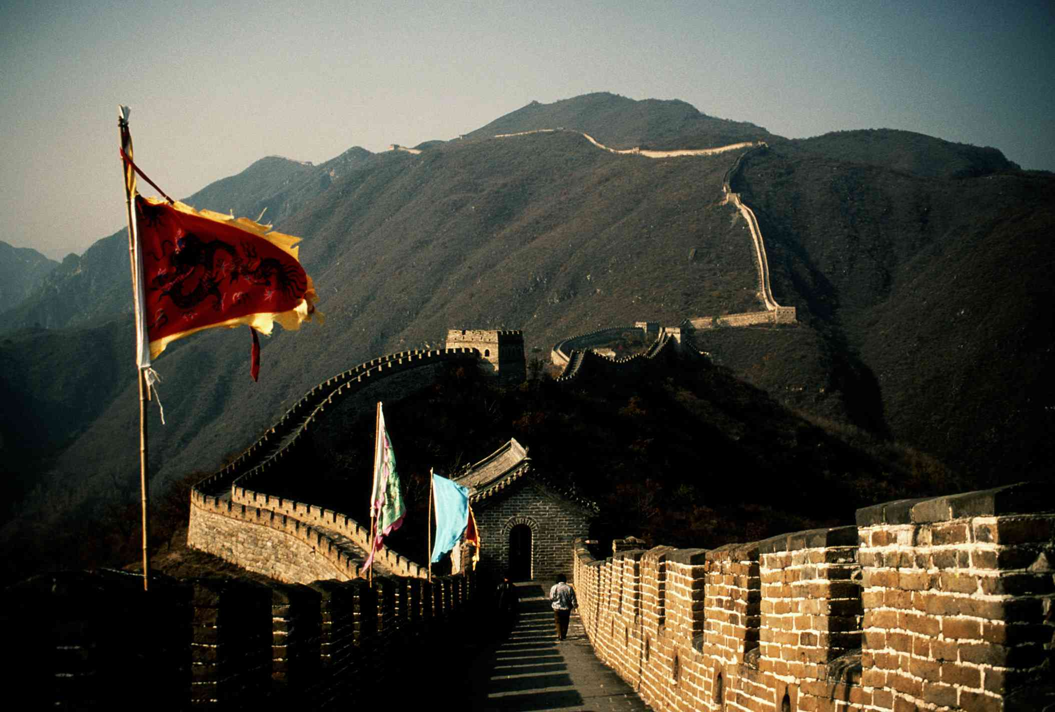 The Great Wall of China stretches over 21,000 kilometers (13,000 miles).