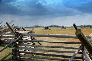 Civil War Cannons on an historic battleground site.