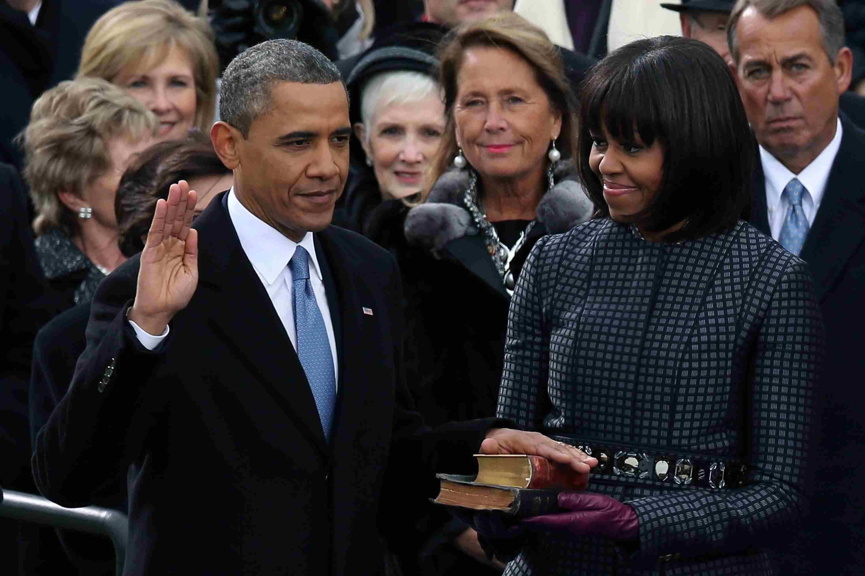 President Barack Obama sworn in