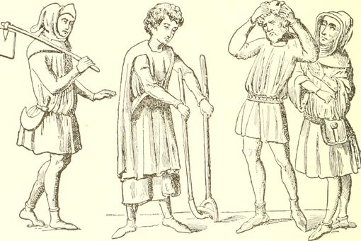 Depiction of peasants of the Fourteenth Century
