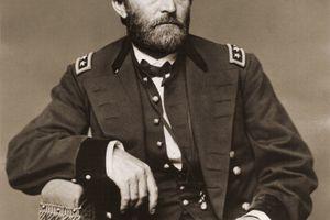 Portrait Of Ulysses Grant in military uniform.