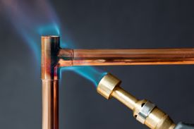 Heating copper