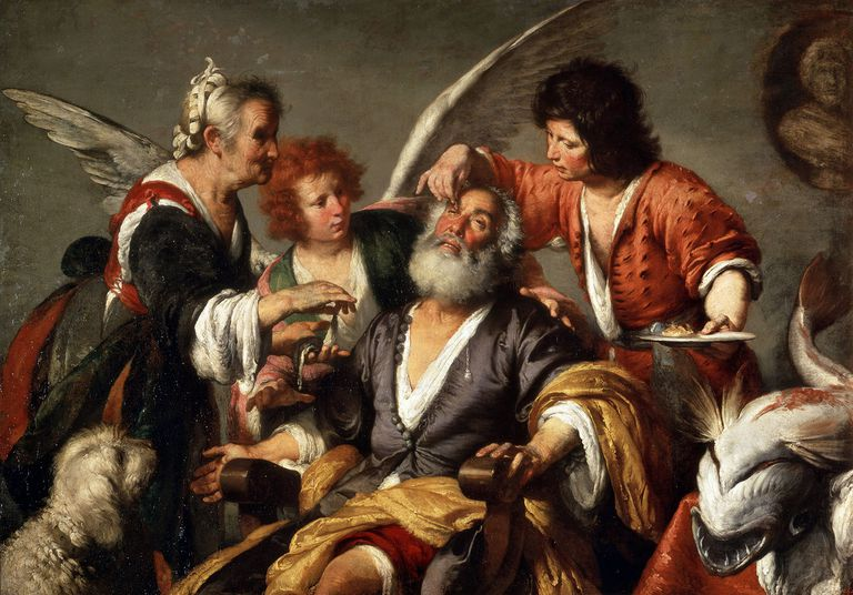 'The Healing of Tobit', c1635. Artist: Bernardo Strozzi