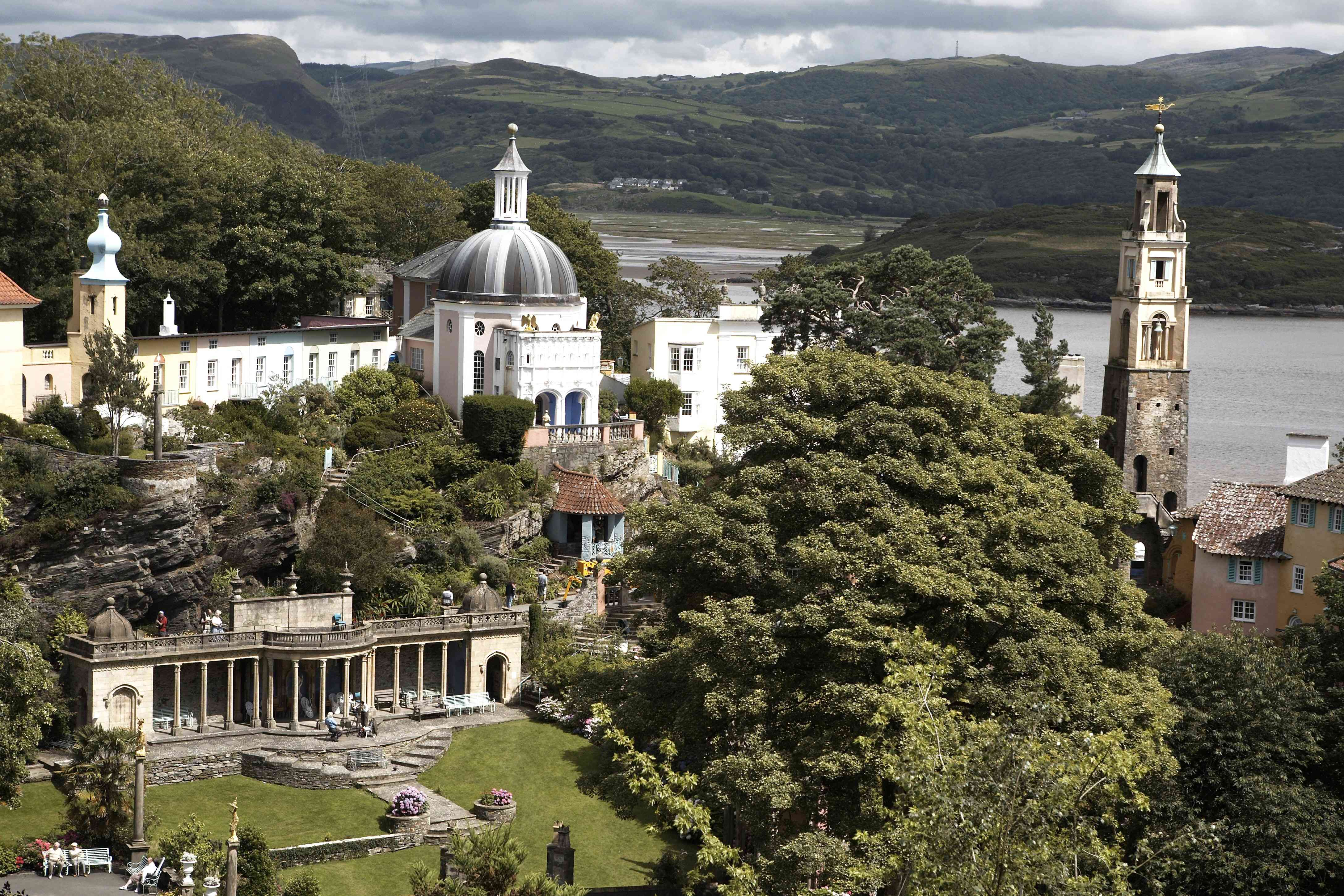 The domes and spires of Portmeirion in North Wales