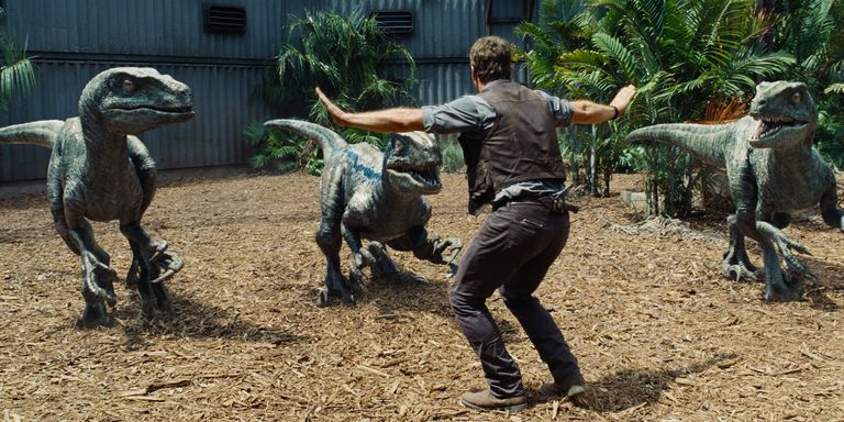 Chris Pratt in 'Jurassic World'.