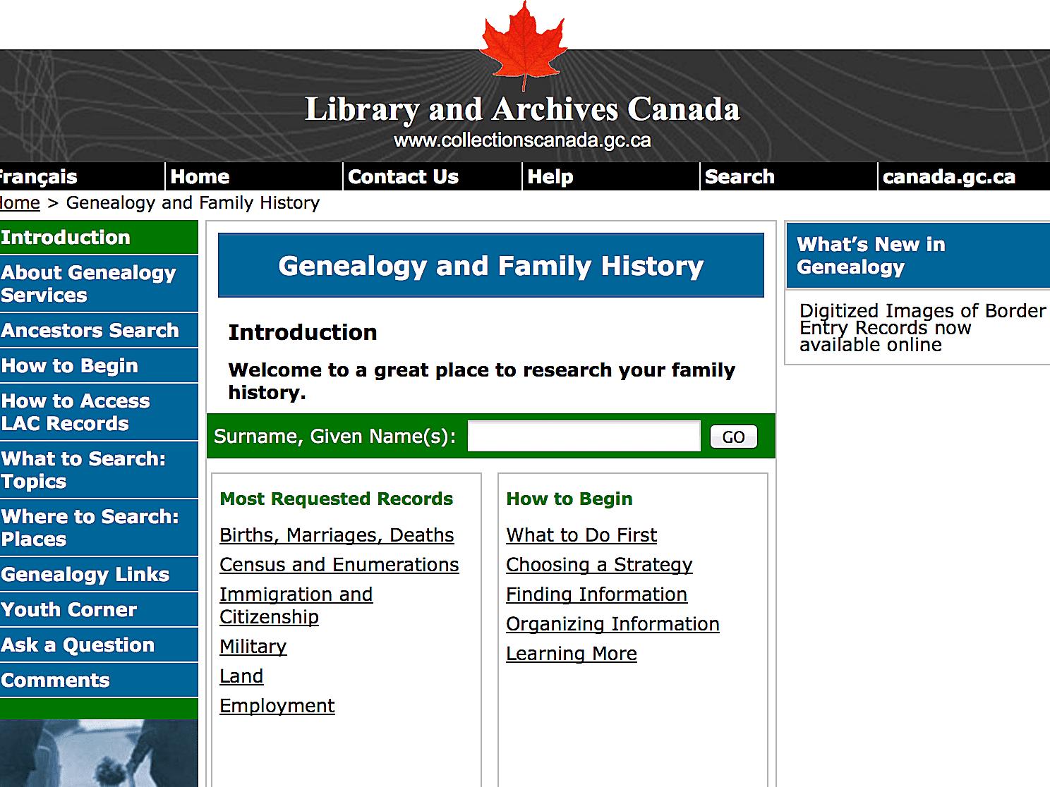Canada Ancestry