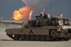Tank & Burning Oil Wells