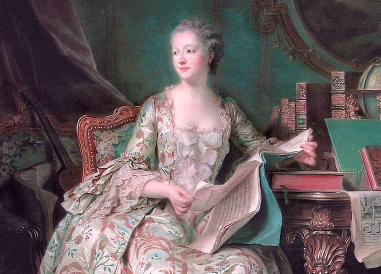 Portrait of Madame de Pompadour, circa 1748-1755