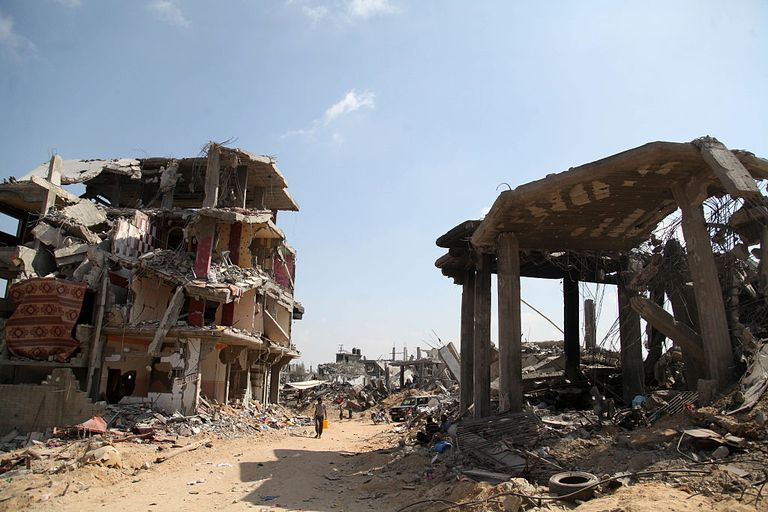 Part of Gaza City ravaged by war