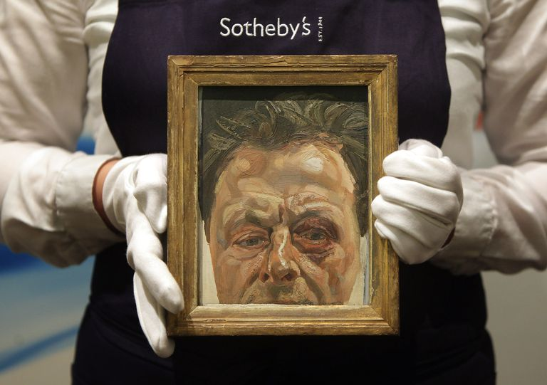 Lucien Freud's Self Portrait With A Black Eye To Be Auctioned