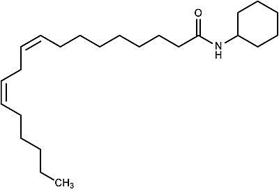 This is the chemical structure of linoleylanilide.