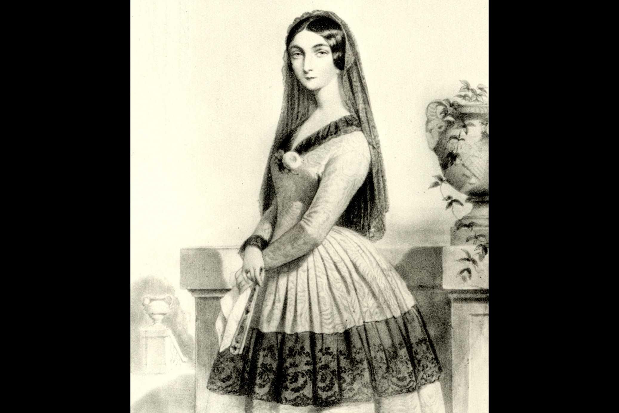 Lola Montez, lithography by Alophe after a portrait by Dartiguenave