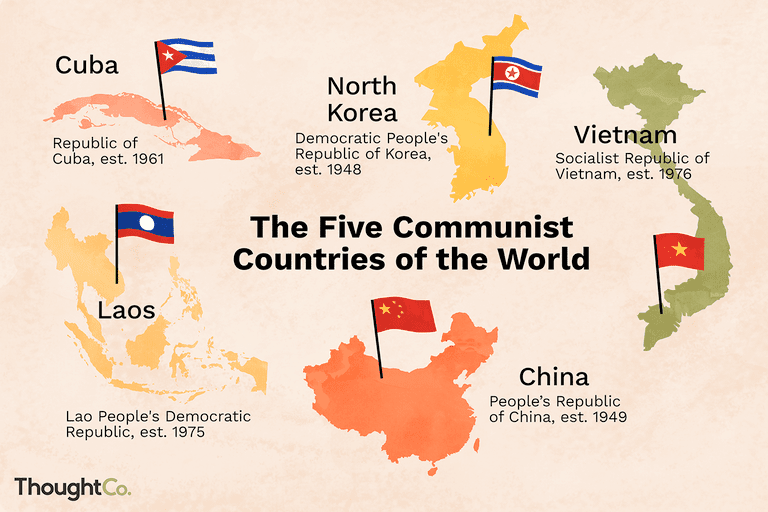 Map Of Asia During Vietnam War.A List Of Current Communist Countries In The World