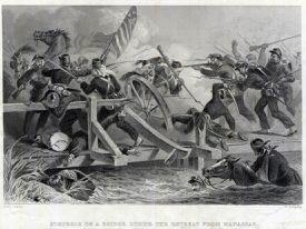 Bridge during the Retreat from Manassas, First Battle of Bull Run, 1861