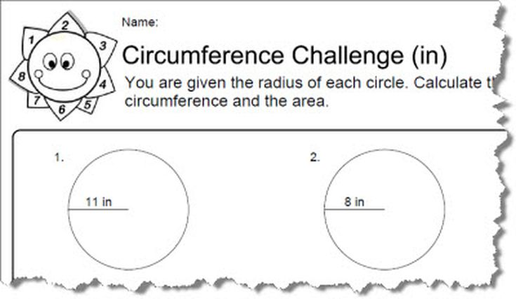 Circumference Worksheets With Answers