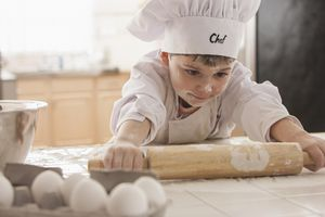 little boy cooking
