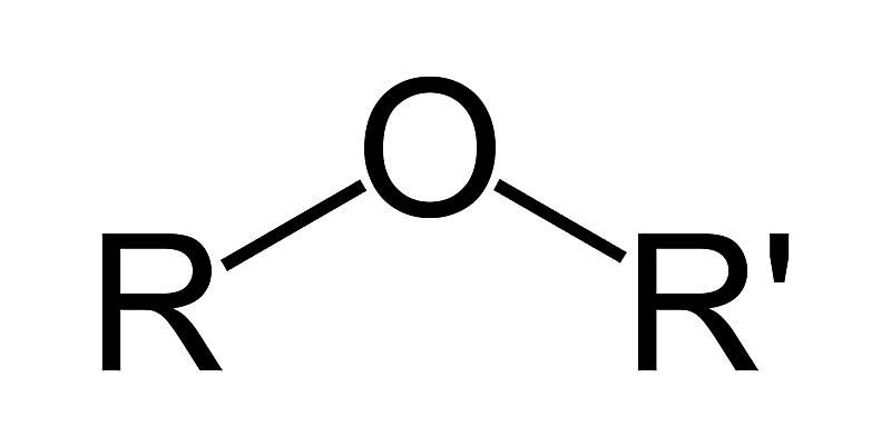 The general formula for the ether functional group is ROR'.