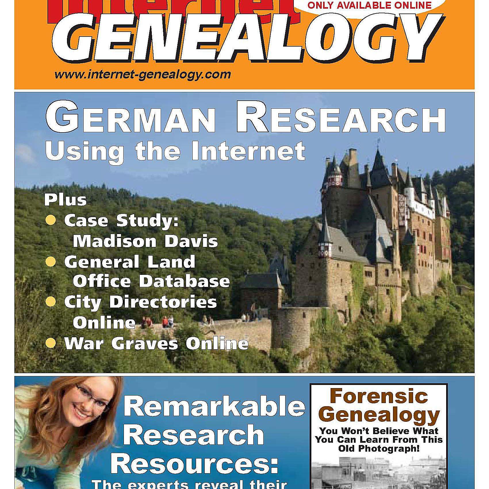 Internet Genealogy Magazine