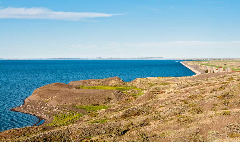 Fort Peck Dam & Lake harnesses the Missouri River