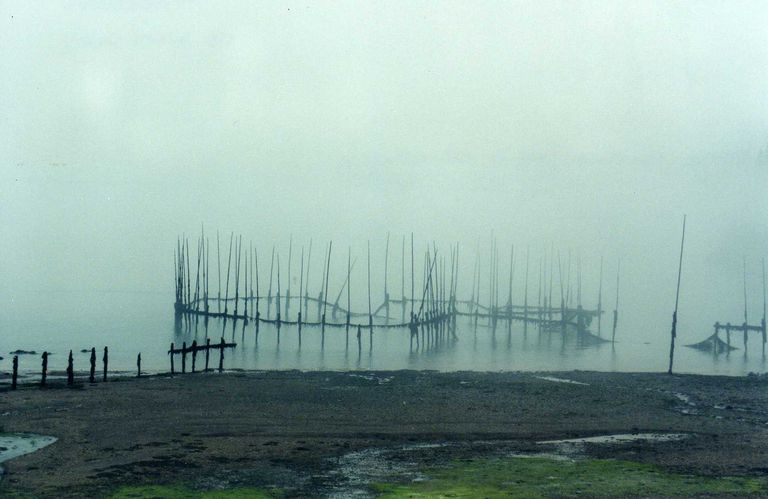 Deer Island Fish Weir in the Fog (New Brunswick, Canada)