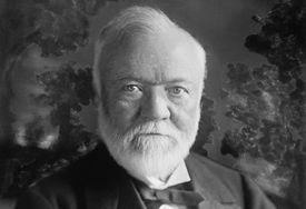 Steel magnate Andrew Carnegie