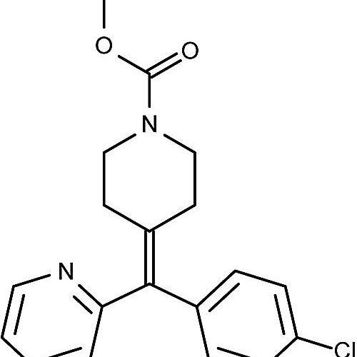 Esta es la estructura química de la loratadina.
