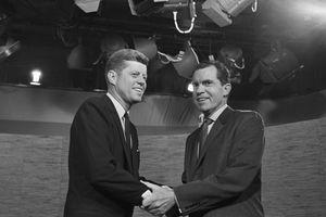 JFK and Nixon post debate