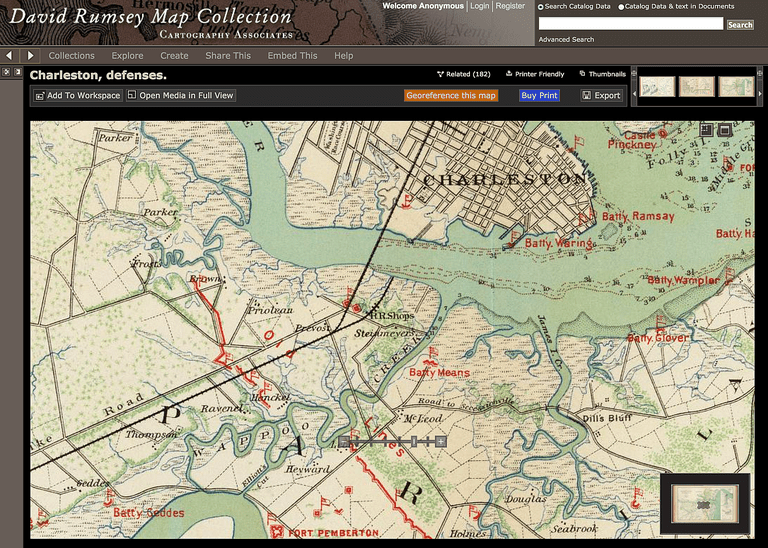 civil war defenses at charleston harbor in south carolina david rumsey map collection