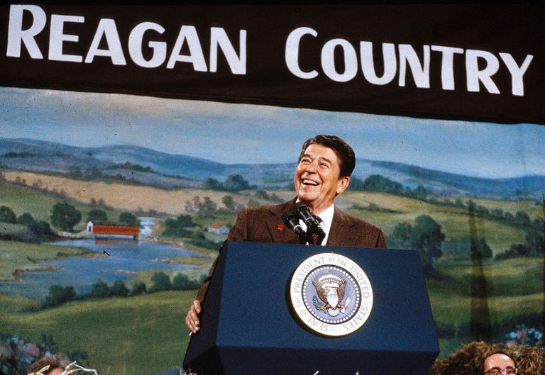 Ronald Reagan Campaigns in 1984