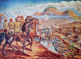 Francisco Villa and Felipe Angeles at Battle of Zacatecas, July 23, 1914